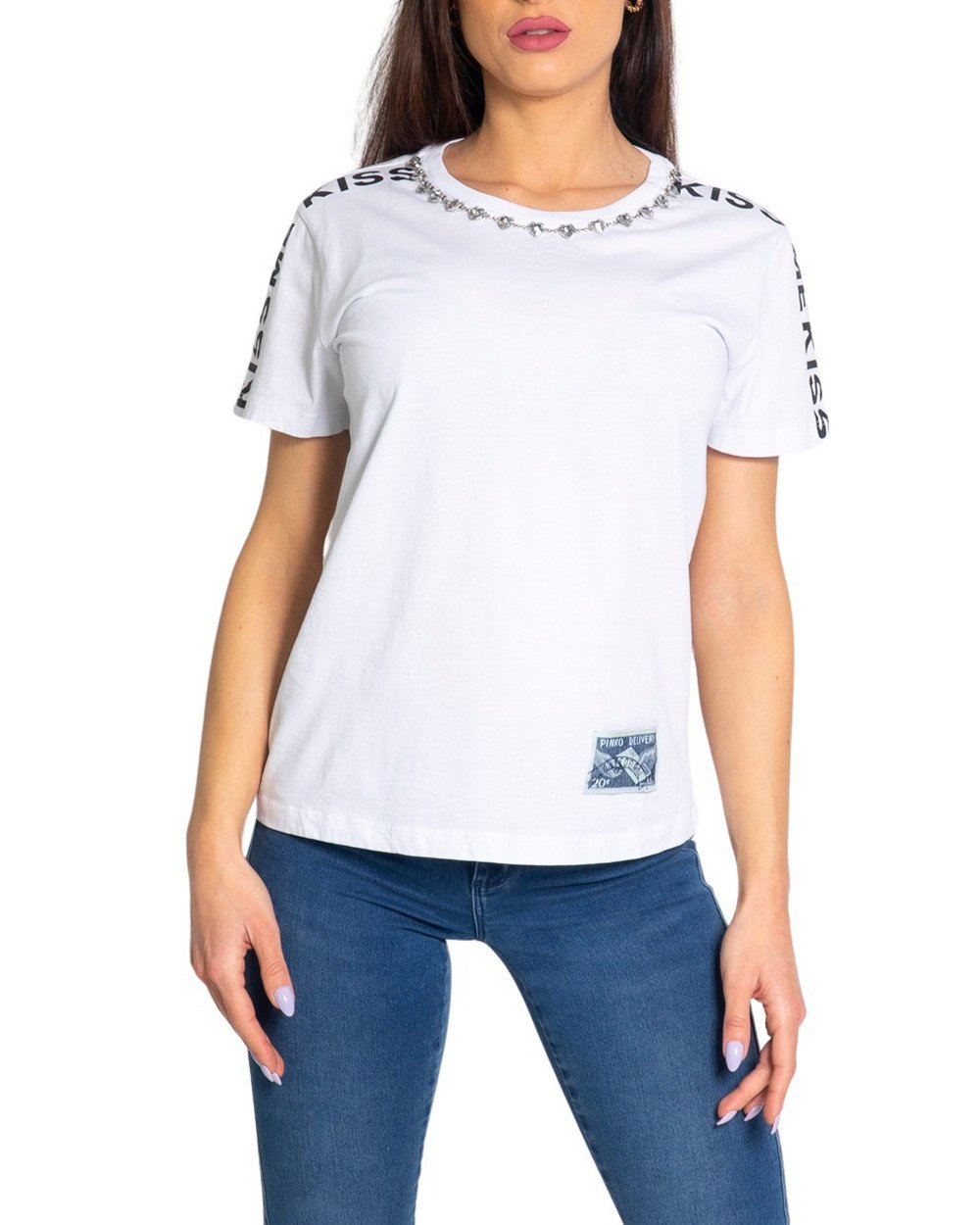 Pinko Women's T-Shirt Various Colours 204095 - white L