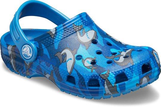 Crocs Classic Shark Clog, Prep Blue 23-24