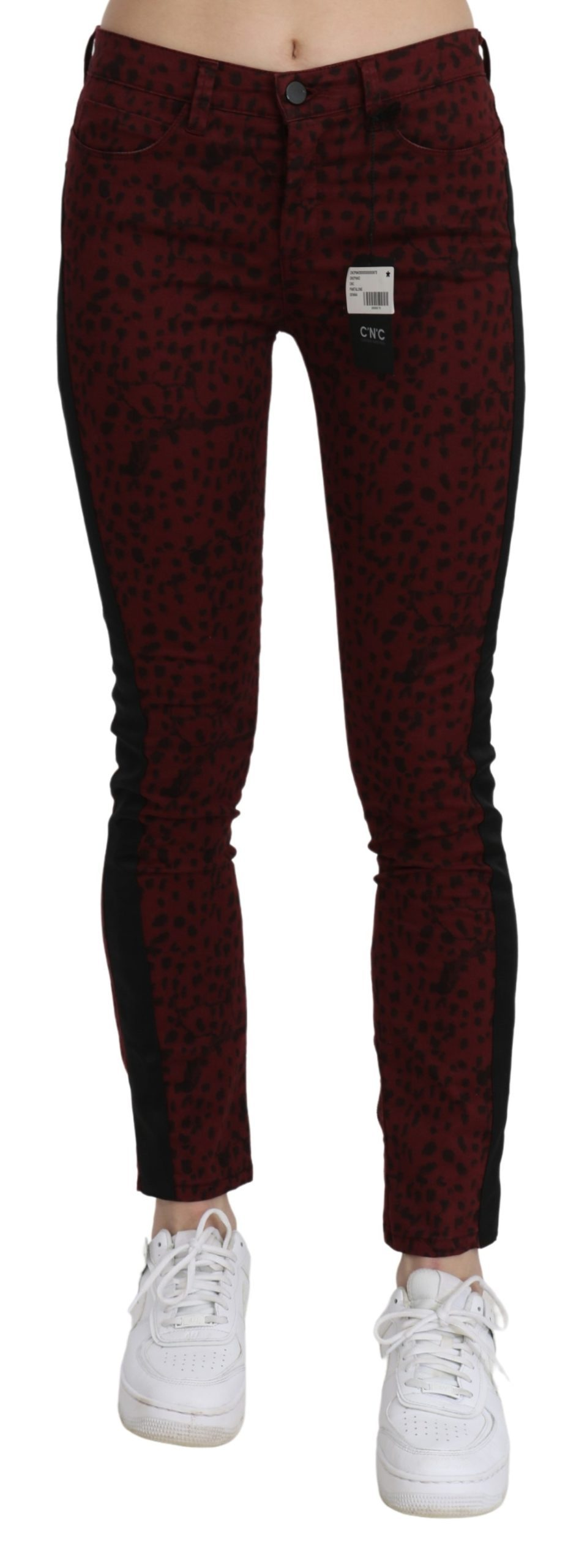 Costume National Women's Mid Waist Slim Fit Cotton Jeans Red PAN70641 - W26