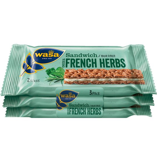Wasa Sandwich Ost och Franska Örter 3-pack - 54% rabatt