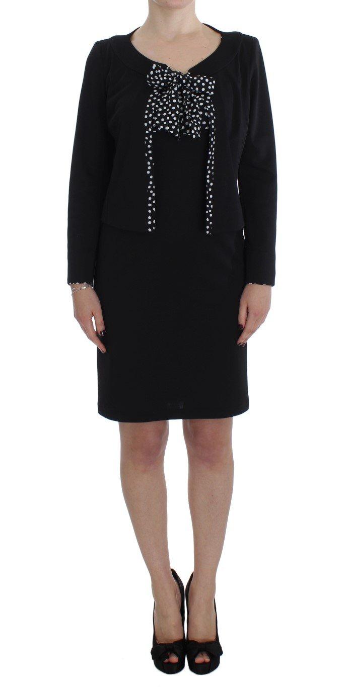 BENCIVENGA Women's Stretch Sheath Dress & Sweater Set Black SIG30869 - IT46 | L