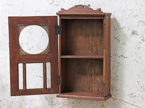 Re-Purposed Clock Cabinet Brown
