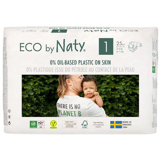 Naty Miljövänliga Blöjor - Storlek 1 (2-5 kg), 25 st