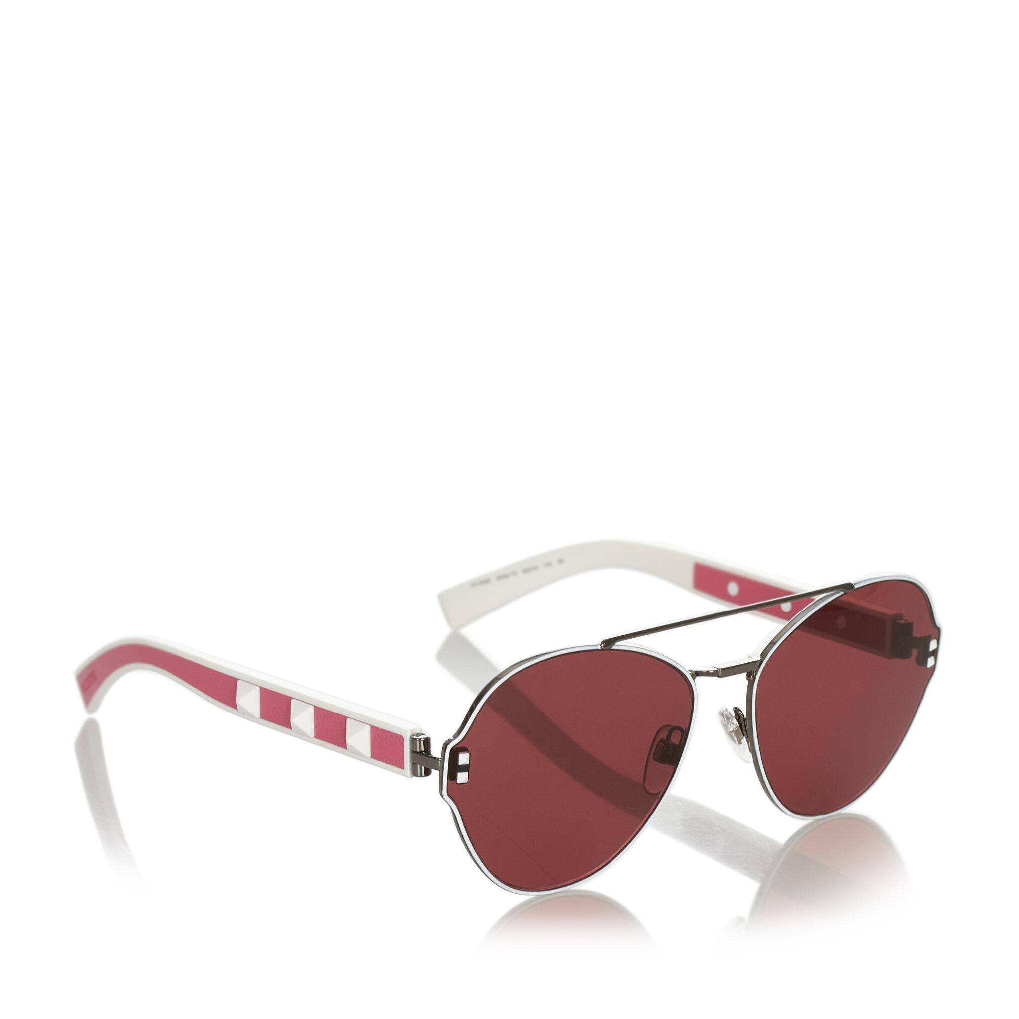 Valentino Crystal Embelished Aviator Sunglasses, ONESIZE