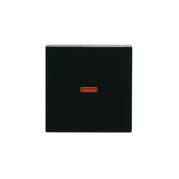 ABB 1789-81 Enkeltvippe 1-veis, rød linse Antrasitt