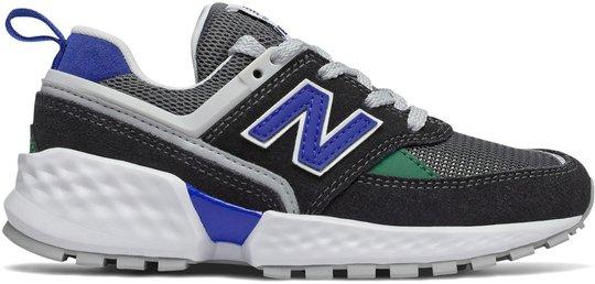 New Balance 547 Kids Sport Sneaker, Black/Blue 28