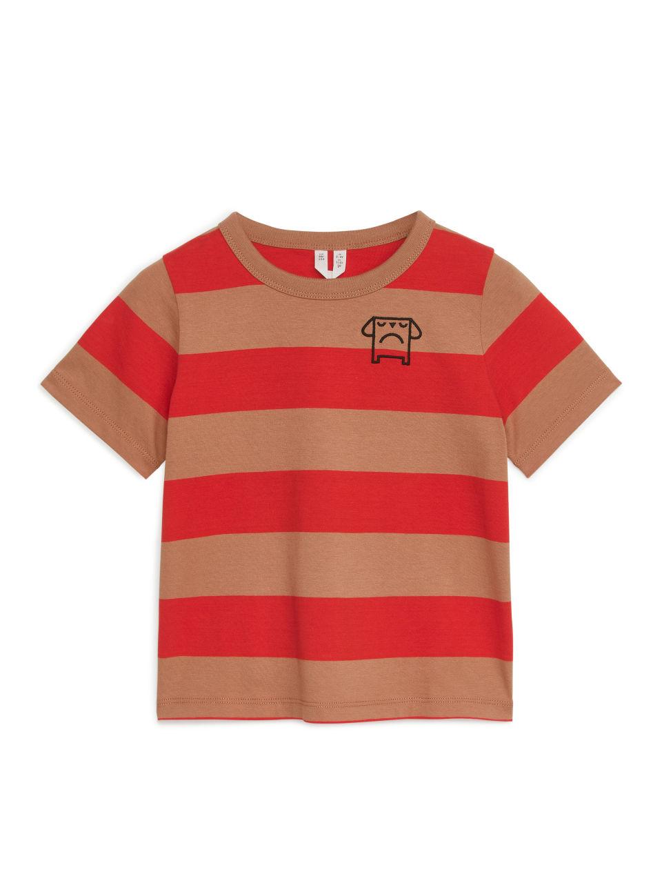 Block-Striped T-Shirt - Red
