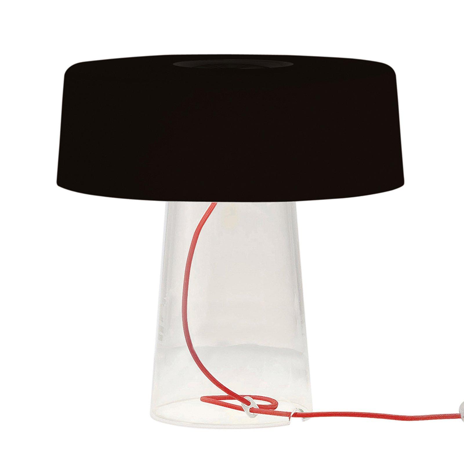 Prandina Glam bordlampe 36 cm klar / skjerm svart