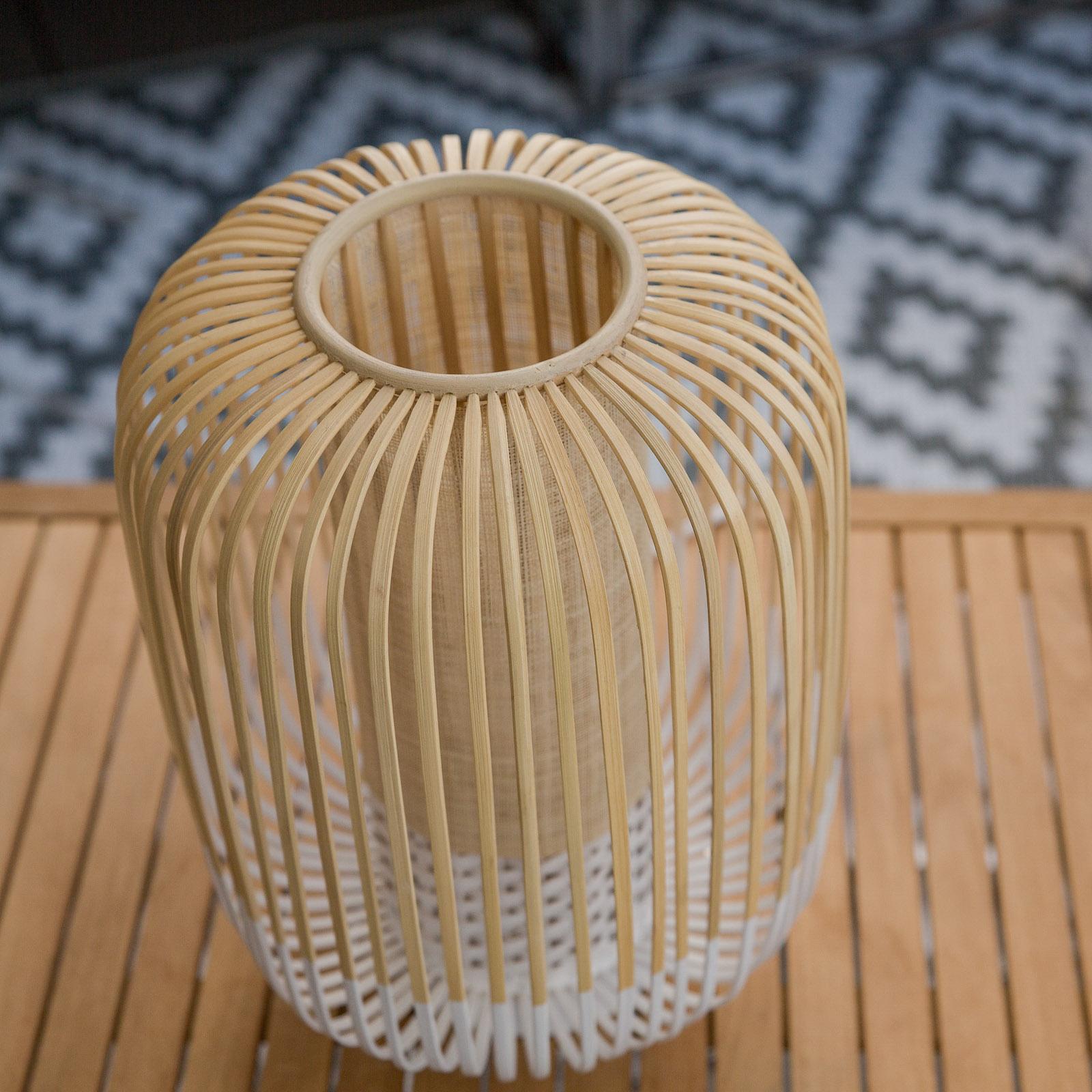 Forestier Bamboo Light M -pöytävalo valkoinen