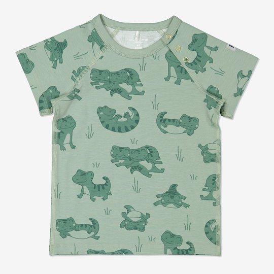 T-skjorte med trykk baby grønn