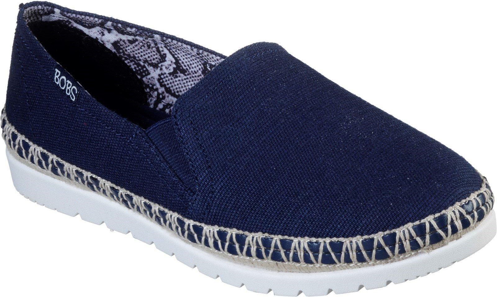 Skechers Women's Bobs Flexpadrille 3.0 Espadrilles Shoe Various Colours 32130 - Navy 3