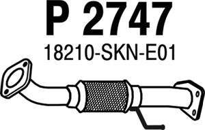 Pakoputki, Edessä, HONDA CR-V II, 18210-SKNE01