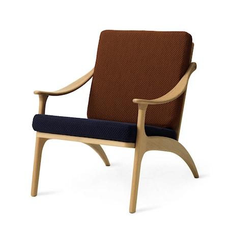 Lean Back Lounge Chair Royal blue/Spicy brown Ek
