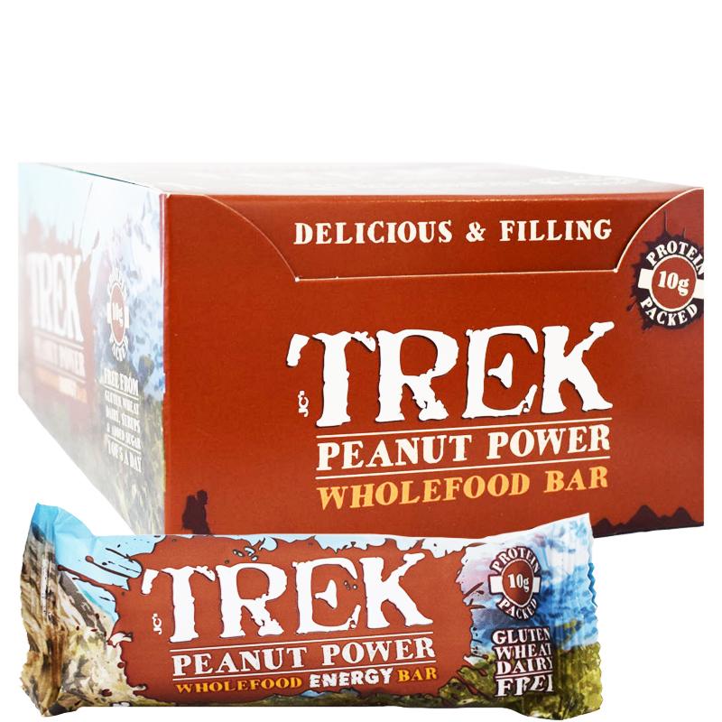 "Hel Låda Proteinbars ""Peanut Power"" 16 x 55g - 67% rabatt"