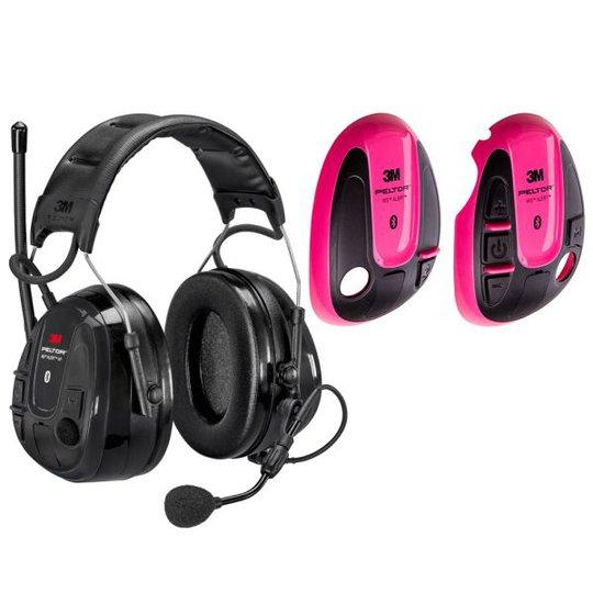 3M Peltor WS Alert XP Kuulonsuojain vaaleanpunainen kuori, Bluetooth, päälakisanka