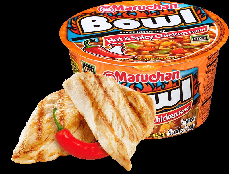 Maruchan Bowl Noodles - Hot & Spicy Chicken Flavor