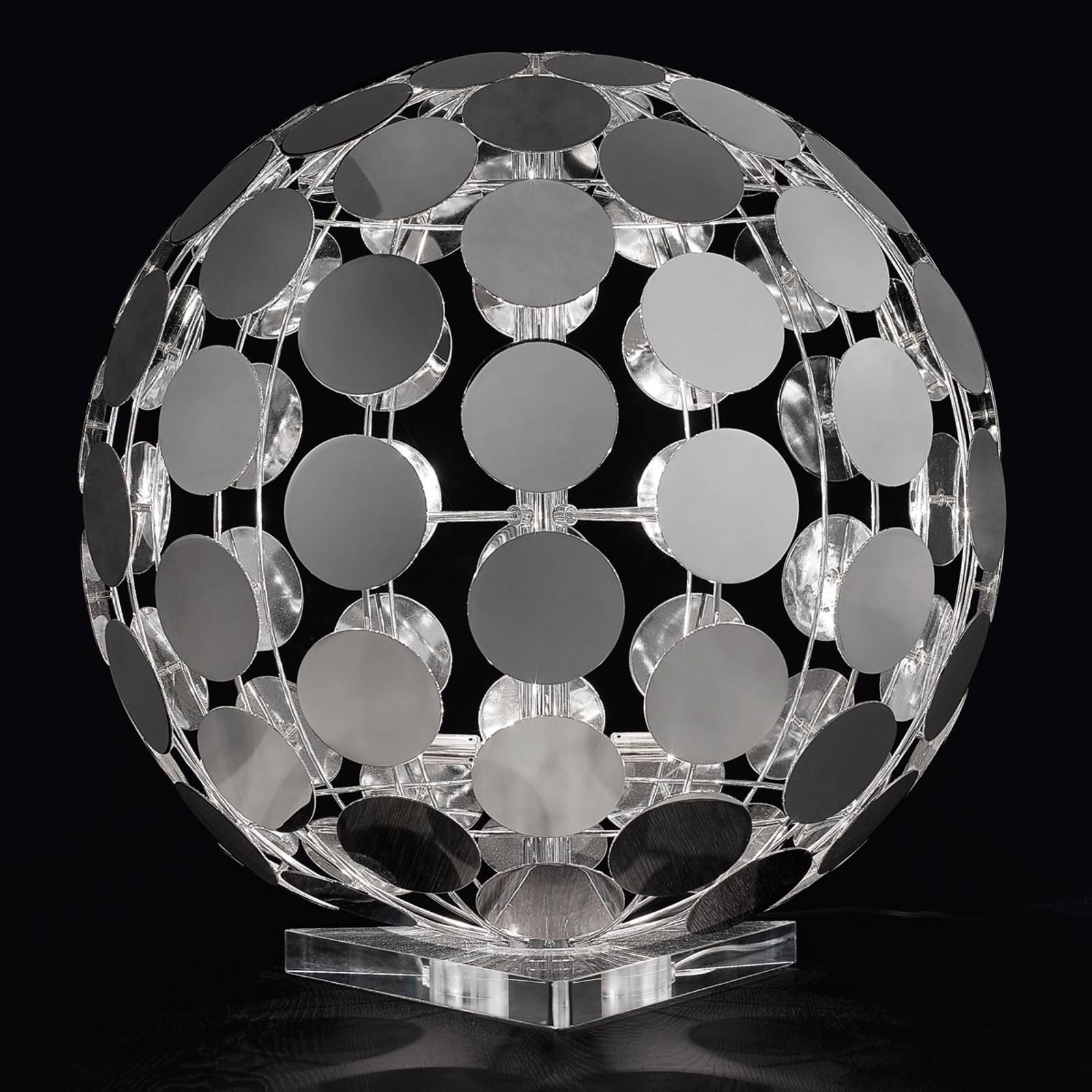 Sfera bordlampe med svart fot, 60 cm