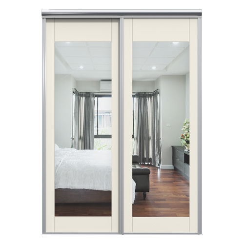 Mix Skyvedør Tradisjon Speil Hvit 1550 mm 2 dører