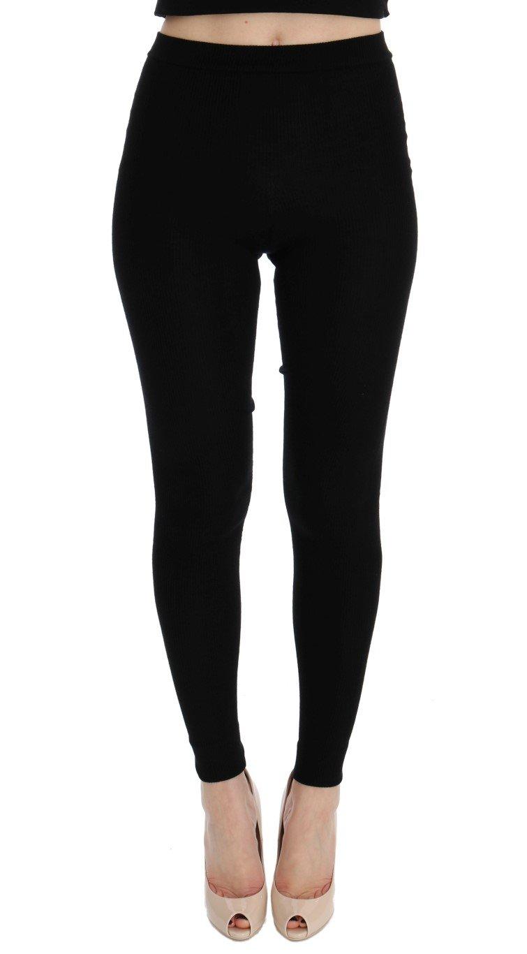 Dolce & Gabbana Women's Tights Black LOD10009 - IT36|XXS