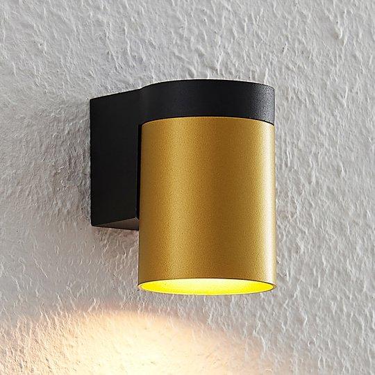 Arcchio Asra -seinävalaisin, yksilamppuinen, kulta
