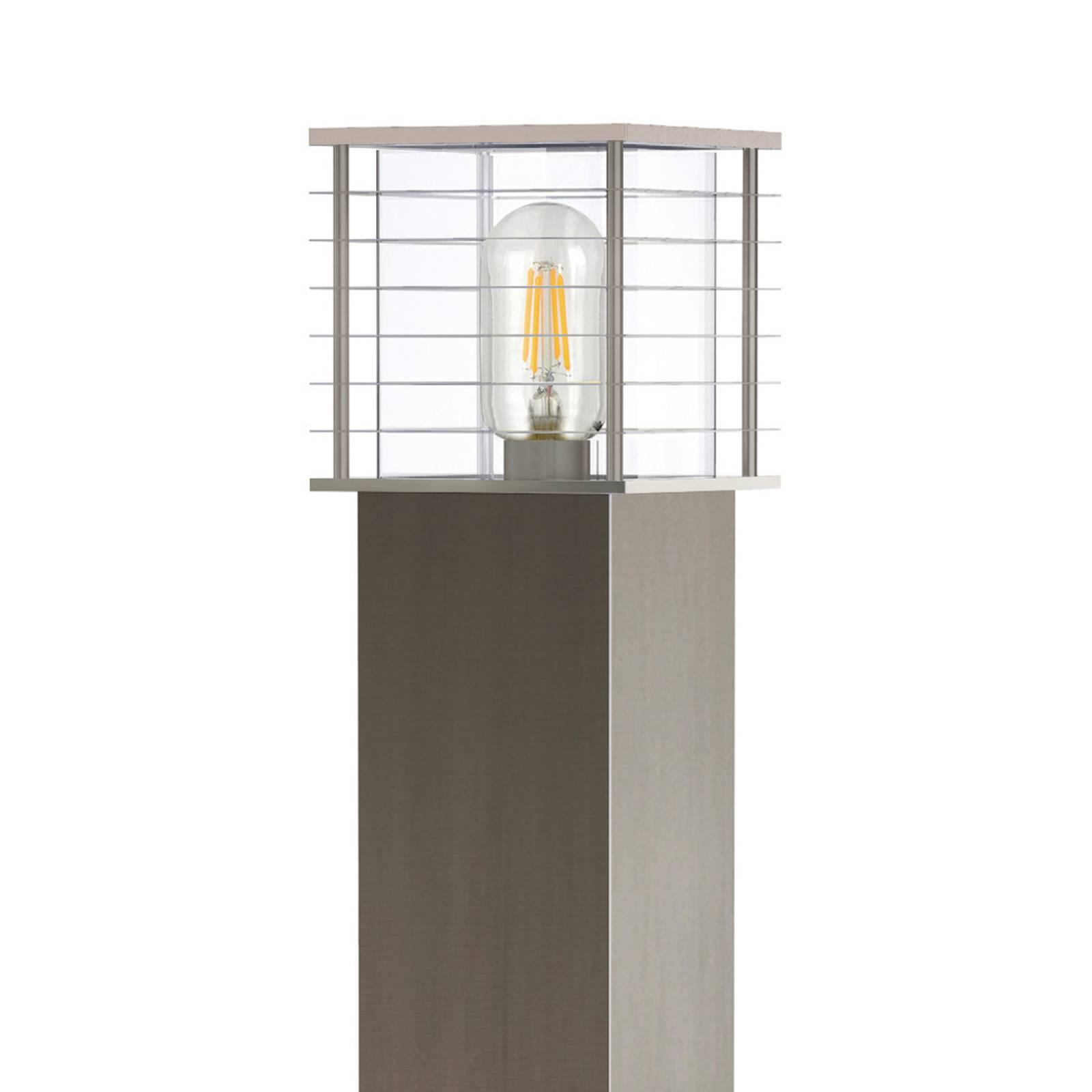 Lindby Liddi -pollarilamppu, kulmikas, harmaa