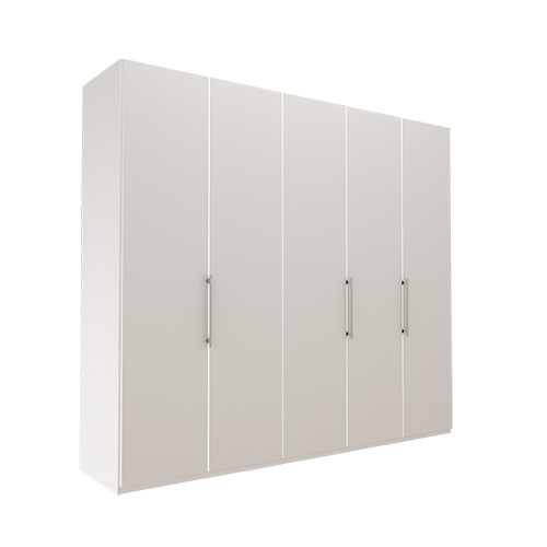 Garderobe Atlanta - Hvit 250 cm, 236 cm, Uten gesims / ramme