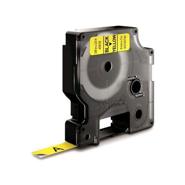DYMO Standard D1 Teip 9mm Svart på gult