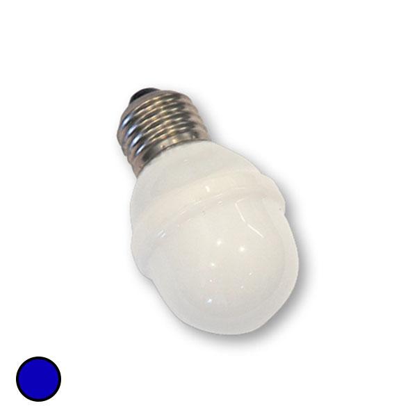 E27 golfpallolamppu 1W 5,5 VA, sininen