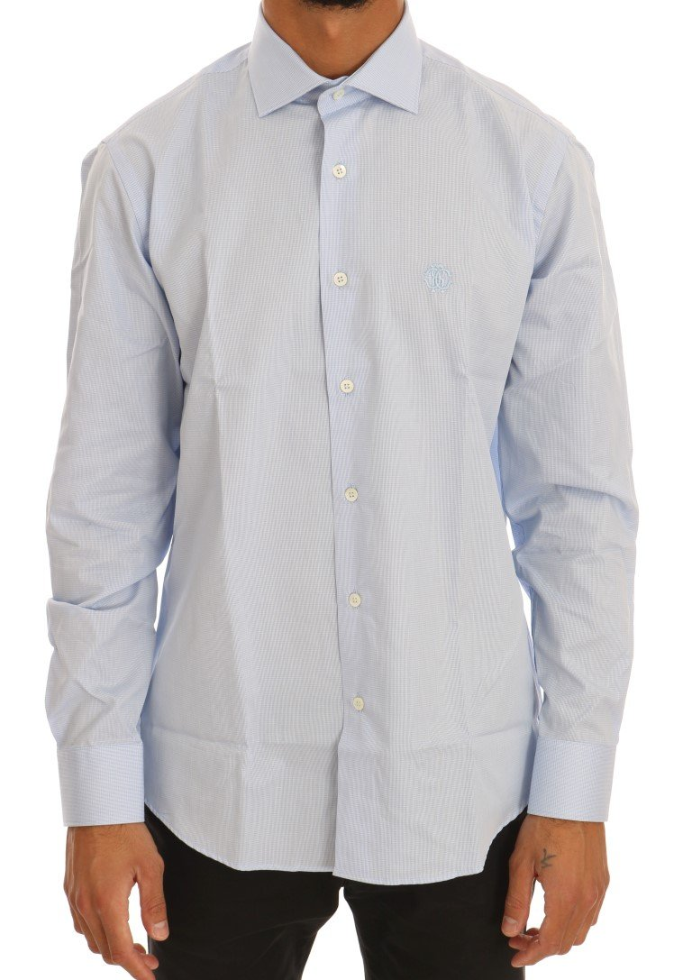 Cavalli Men's Shirt Blue TSH1478 - 41