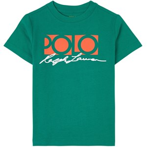 Ralph Lauren Logo T-shirt Grön 2 år