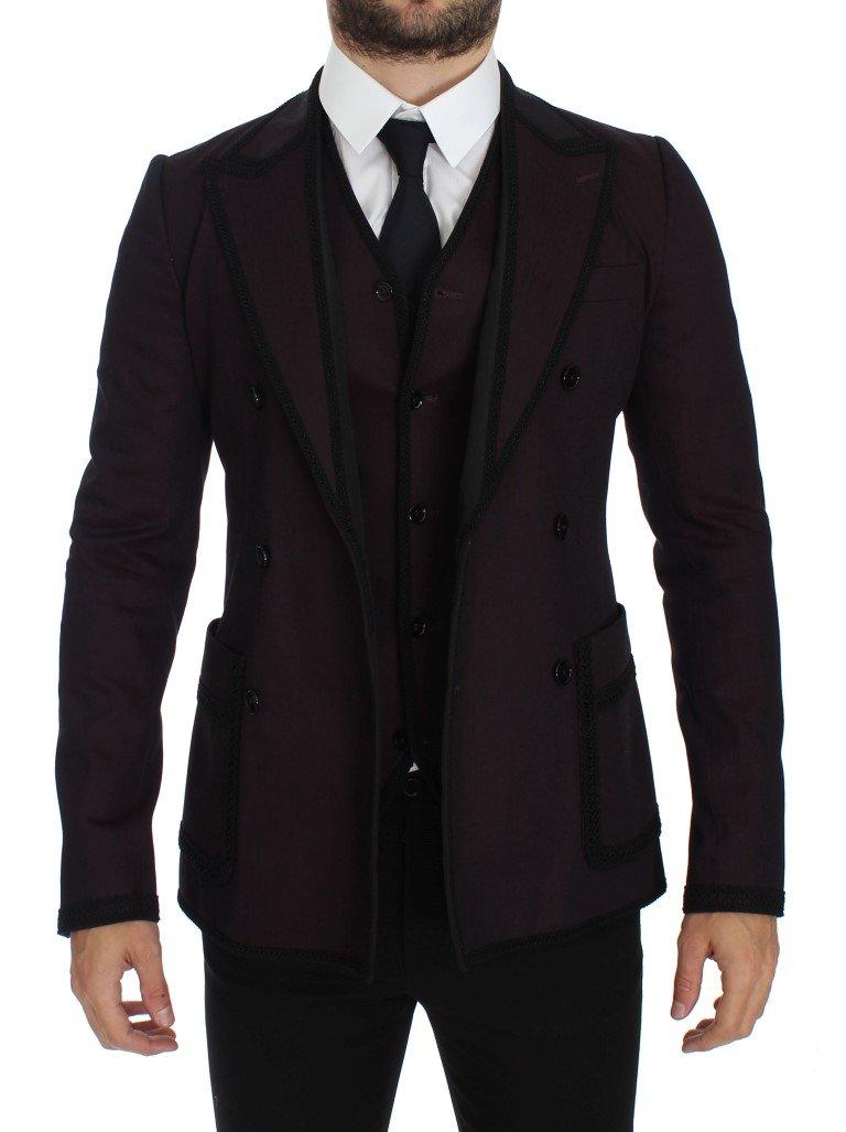 Dolce & Gabbana Men's Torero Slim Fit Stretch Blazer Purple GTT10095 - IT50 | L