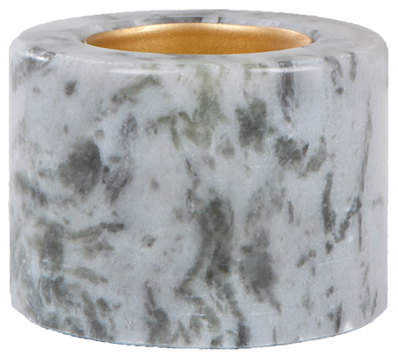Telysestake Blå marmor 5,5 cm Ø 7 cm