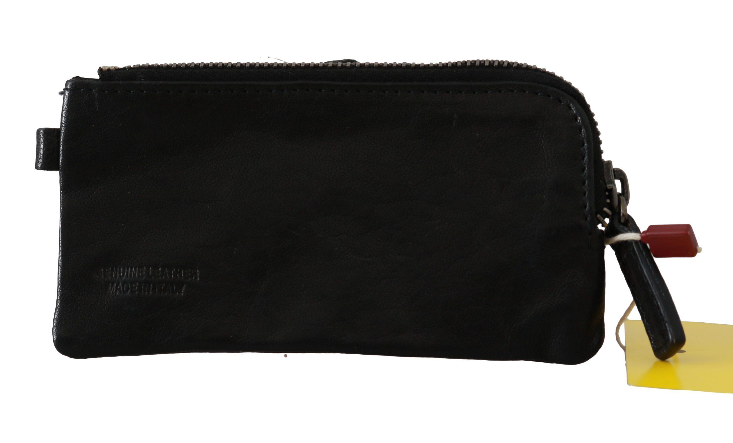 John Galliano Women's Genuine Leather Wallet Black VAS8839