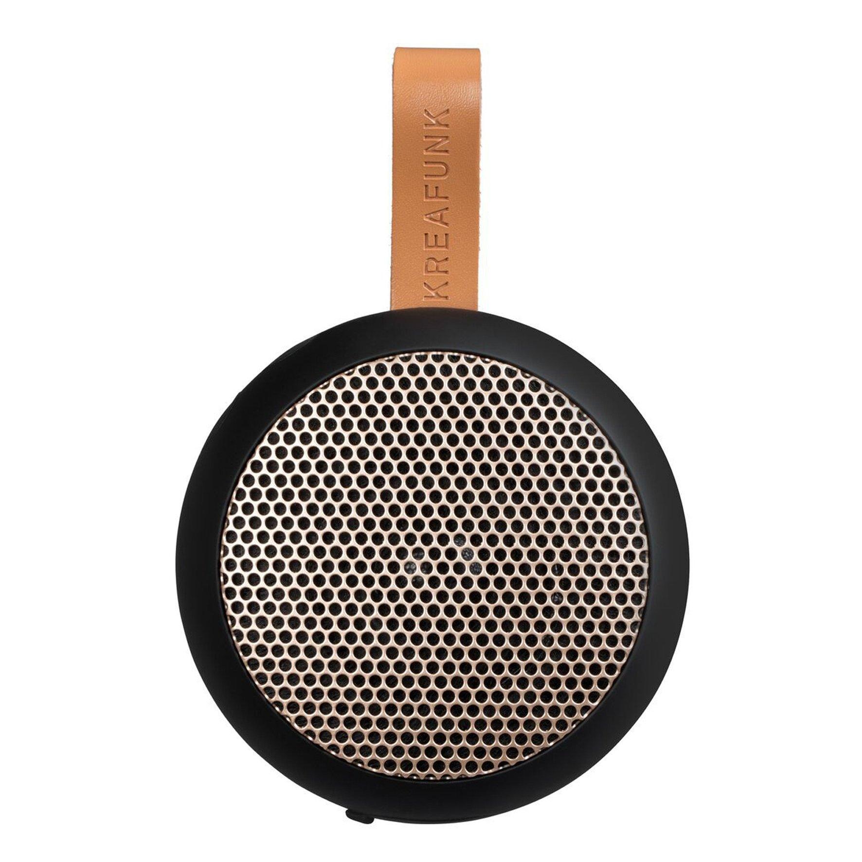 KreaFunk - aGO Bluetooth Speaker - Black/Rose Gold Grill (Kfwt32)
