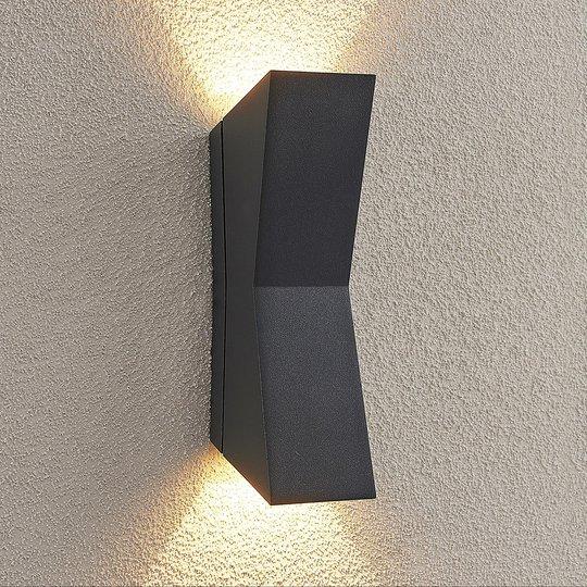Lucande Maniela -LED-ulkoseinävalaisin, up/down