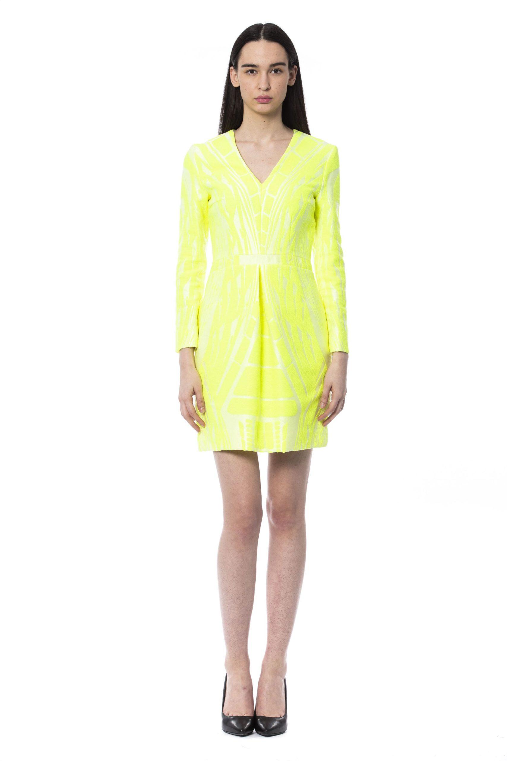 BYBLOS Women's Giallofluo Dress Yellow BY997164 - IT44 | M