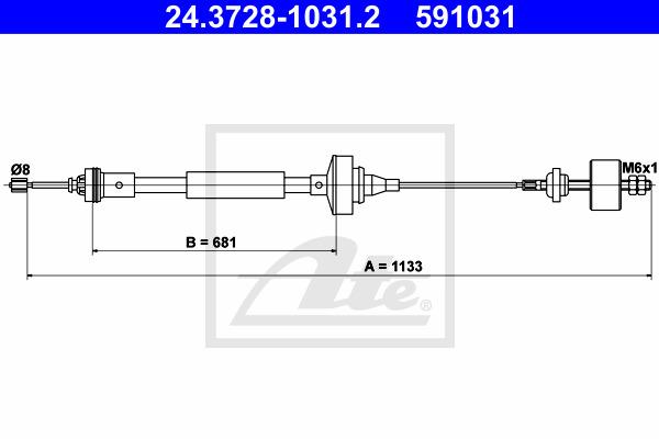 Kytkinvaijeri ATE 24.3728-1031.2