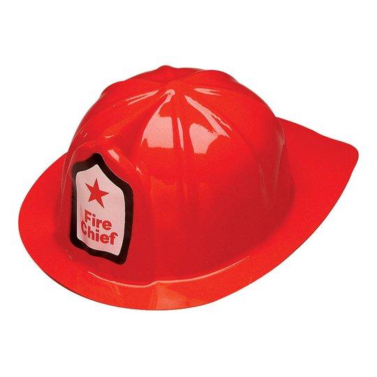 Brandmanshjälm Röd för Barn - One size