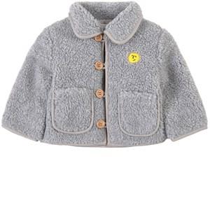 Bobo Choses Face Embroidery Sheepskin Jacka Tuscany 3-6 mån