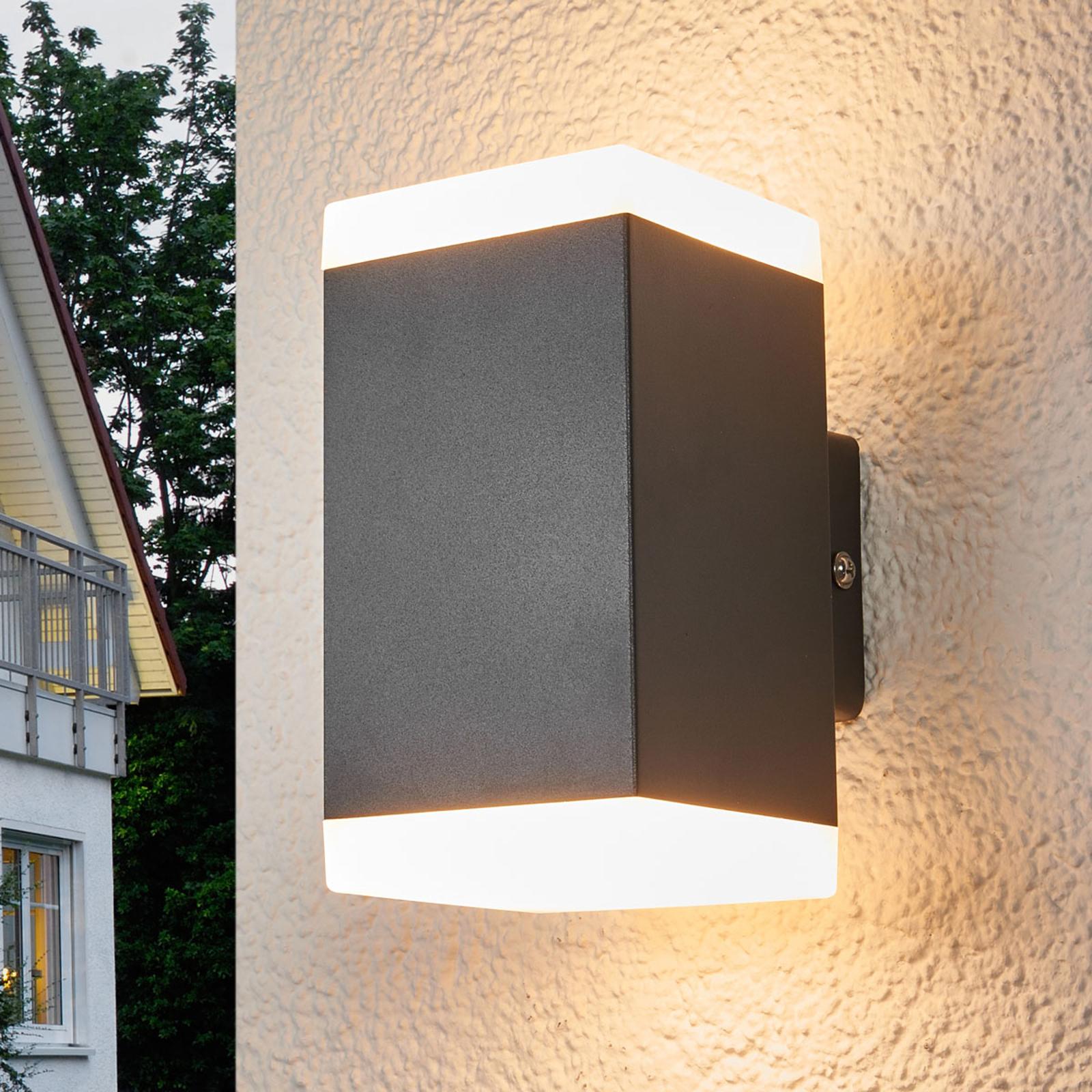 Kulmikas LED-ulkoseinävalaisin Hedda