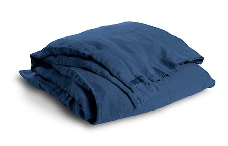 Lovely linen sengetøy – Denim blue, 135x200