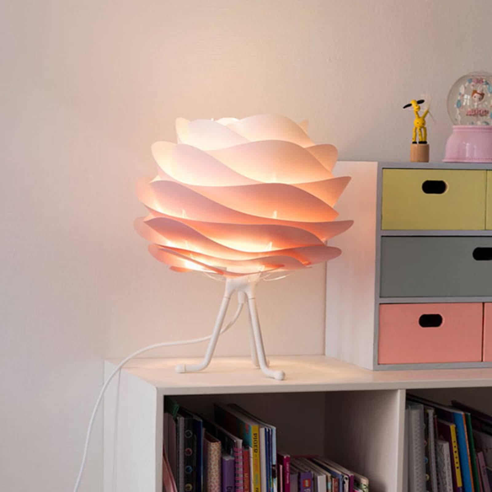 UMAGE Carmina Mini-bordlampe rosa/tripod base hvit