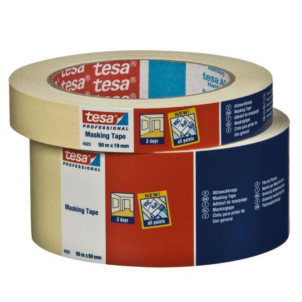 Tesa 4323 Maskeringstape beige 50 m x 19 mm