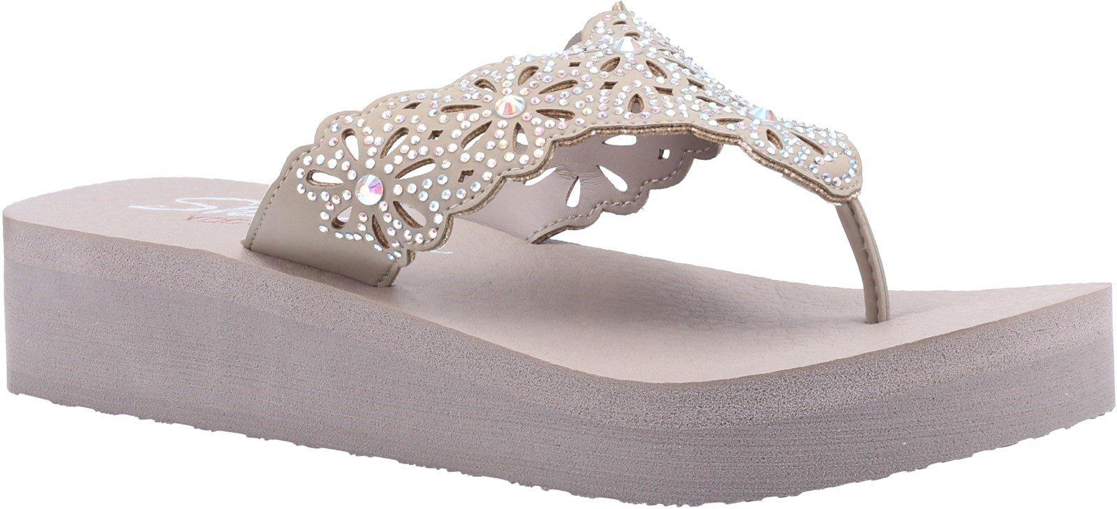 Skechers Women's Vinyasa Pretty Summer Sandal Various Colours 32173 - Taupe 3