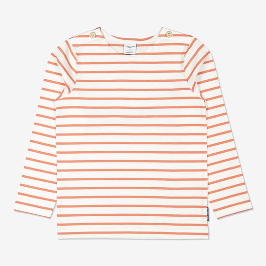 Stripet genser aprikos
