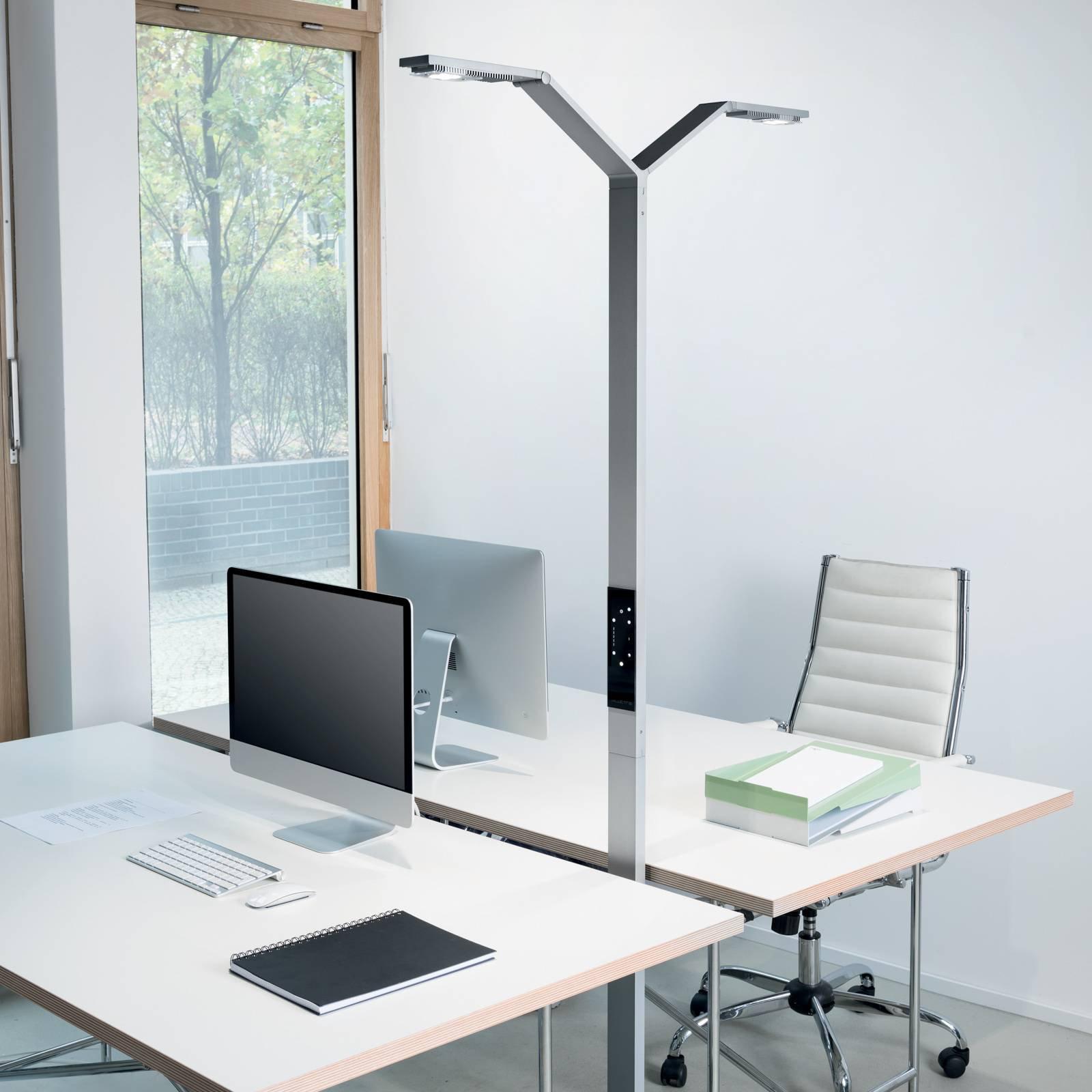 Luctra Floor Twin Linear LED-gulvlampe alu
