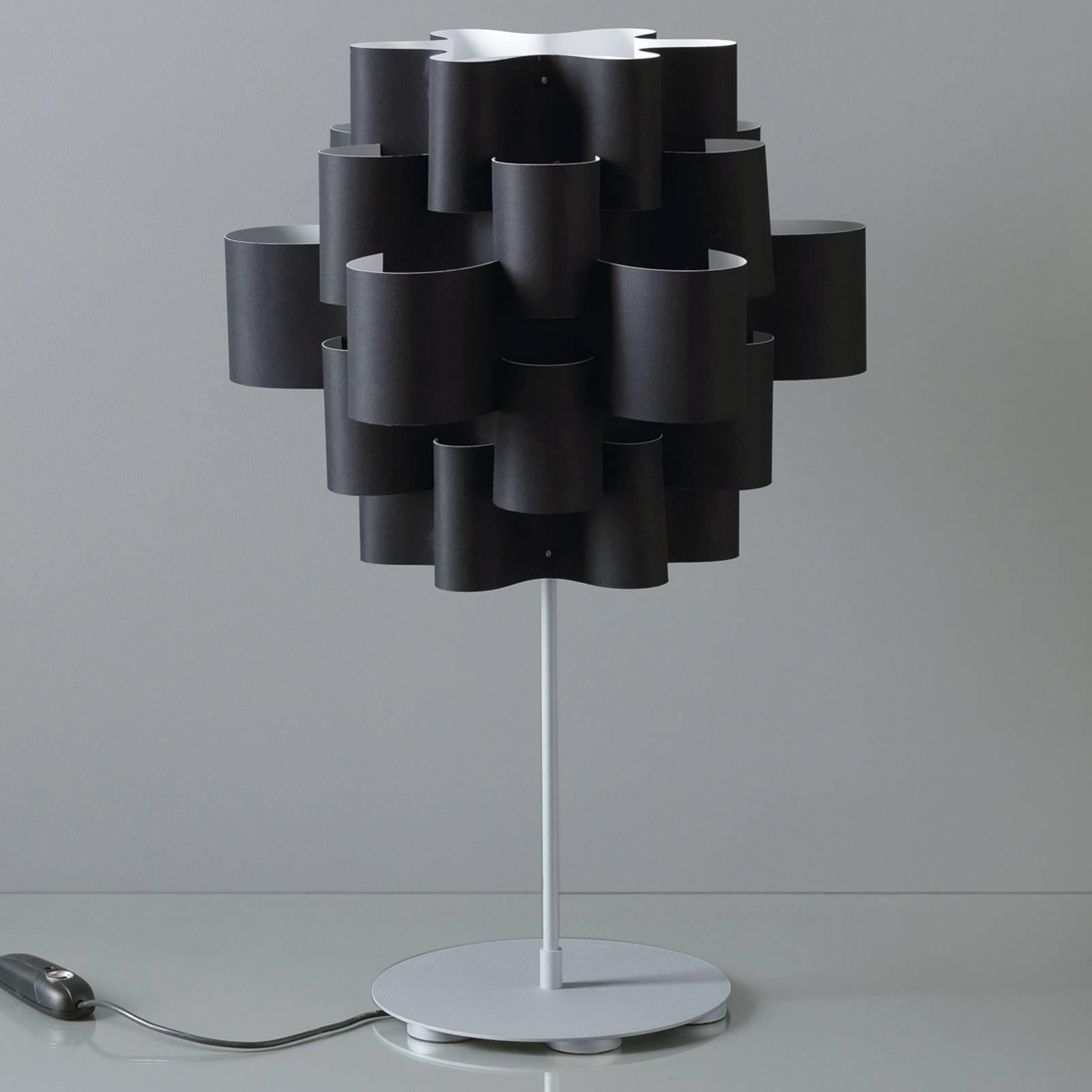 Design-pöytävalaisin Sun, musta