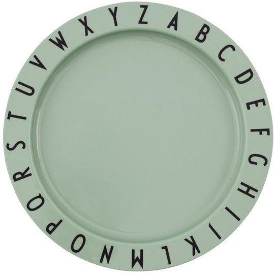Design Letters Eat & Learn Tallerken Tritan, Grønn