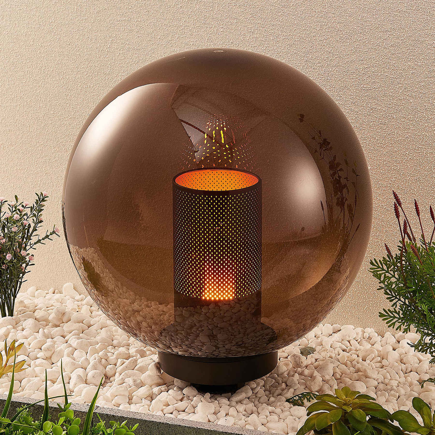 Lindby Kibara -koristevalaisin, pallo, Ø 40 cm