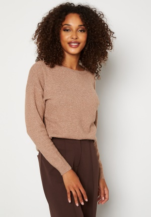 ONLY Prime L/S Pullover Knit Brownie XS